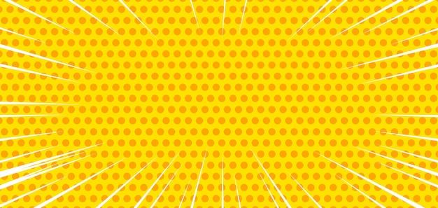 노란색 하프톤 만화 배경