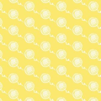 Yellow hand drawn ball pattern