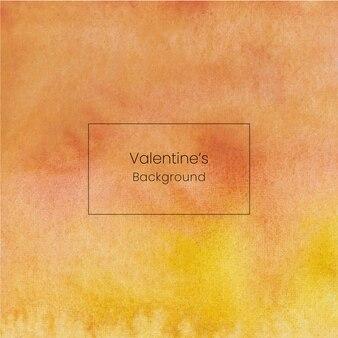 黄色の手描きバレンタイン水彩背景
