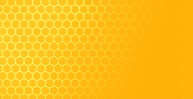 Yellow hexagonal honeycomb mesh pattern with text space