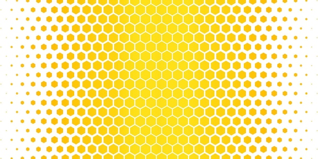 Yellow hexagonal pattern