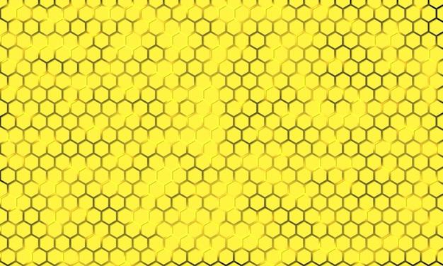 Yellow hexagonal texture on a luminous background