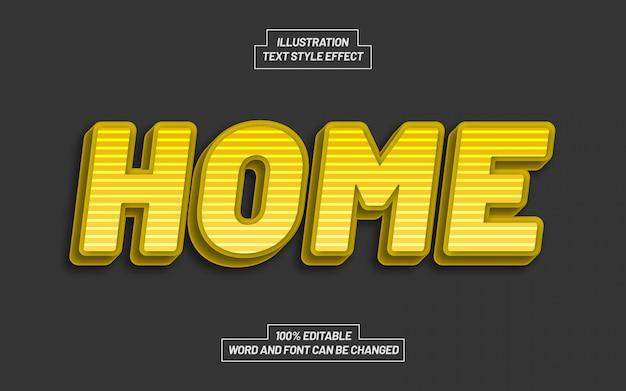 Желтый эффект стиля домашнего текста