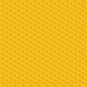 Yellow honeycomb pattern