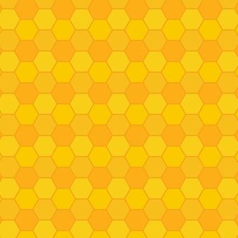 黄色のハニカムパターン