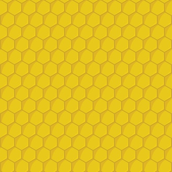 Yellow honeycomb seamless pattern