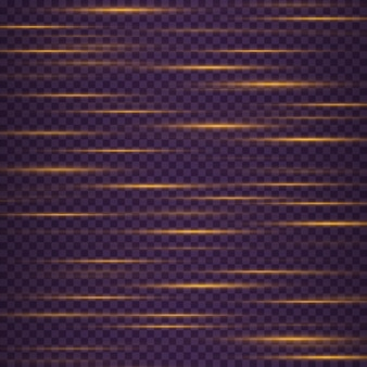Yellow horizontal lens flares pack glowing streaks on dark background
