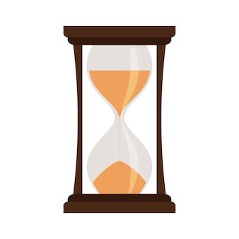 Желтые песочные часы на белом