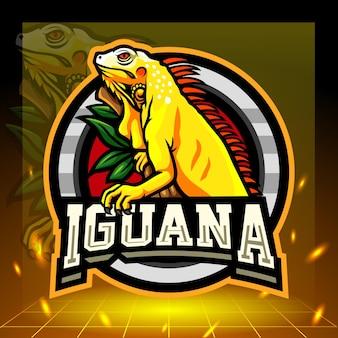 黄色いイグアナのマスコット