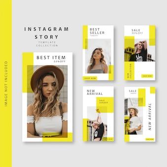 Yellow instagram story