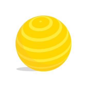 黄色の子供ボールベクトルイラスト。白で隔離。