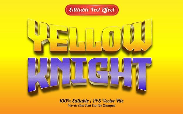Текстовый эффект желтого рыцаря