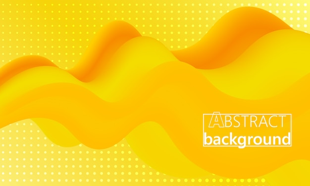 Yellow. landing page. 3d fluid poster. .
