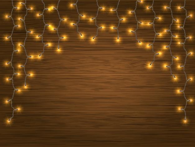 Yellow led light christmas garland