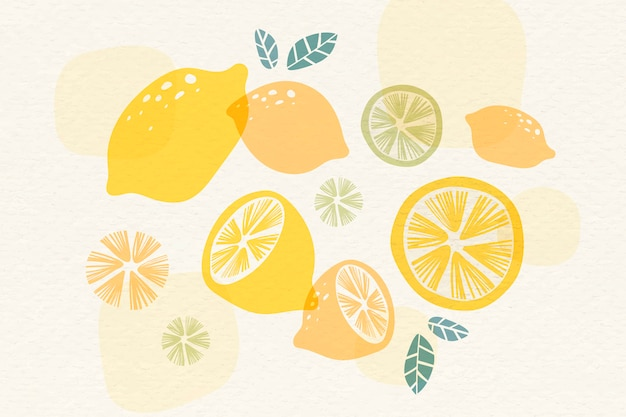 Yellow lemon background