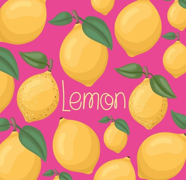 Yellow lemon card over pink