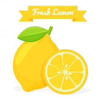 Yellow lemon fruit. lemon is a citrus fruit that is high in vitamin c. it helps to feel refreshed.