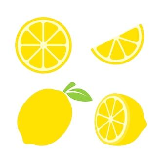 노란색 레몬 과일.