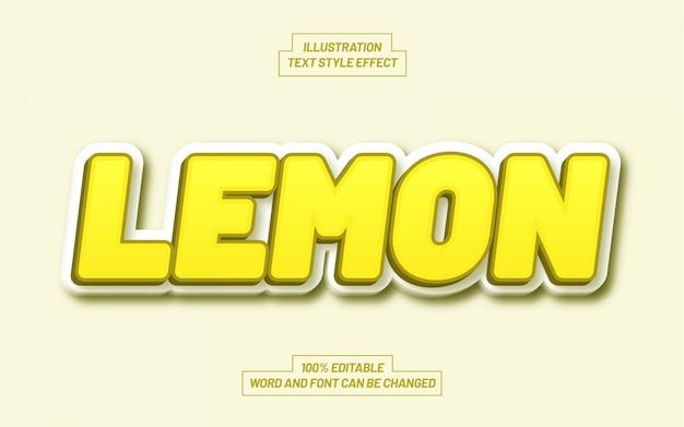 Эффект стиля текста желтый лимон