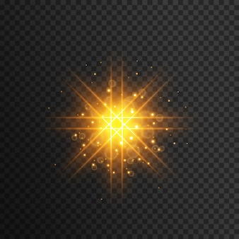 Yellow light flash effect