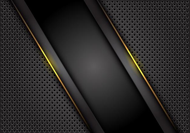 Желтая светлая линия темно-серый фон