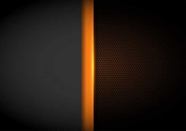 Yellow light with wavy mesh background, cover layout template