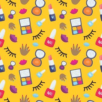 黄色の化粧パターン