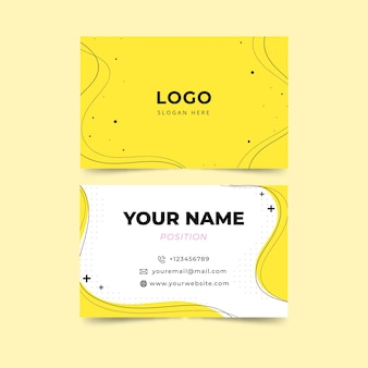 Yellow minimalist business card template
