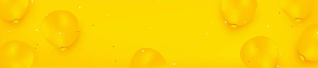 Yellow monochromatic background with yellow balloons