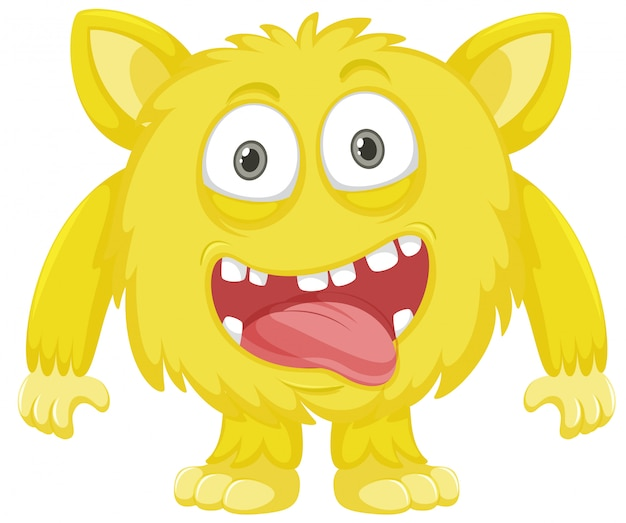 A yellow monster character