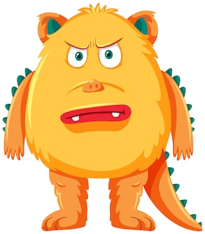 A yellow monster characters