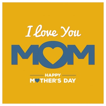 Yellow mothers day card