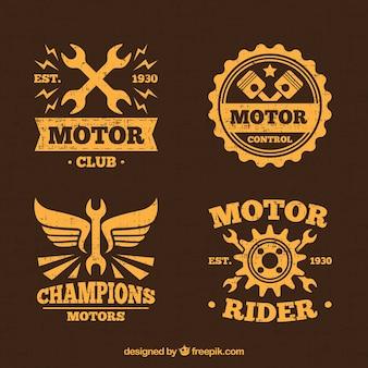 Yellow motor logos