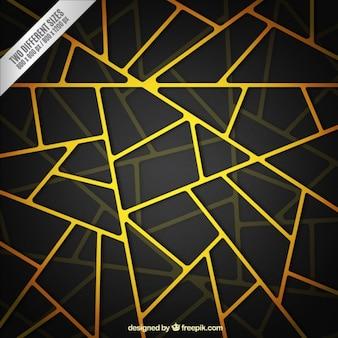 Yellow net on dark background