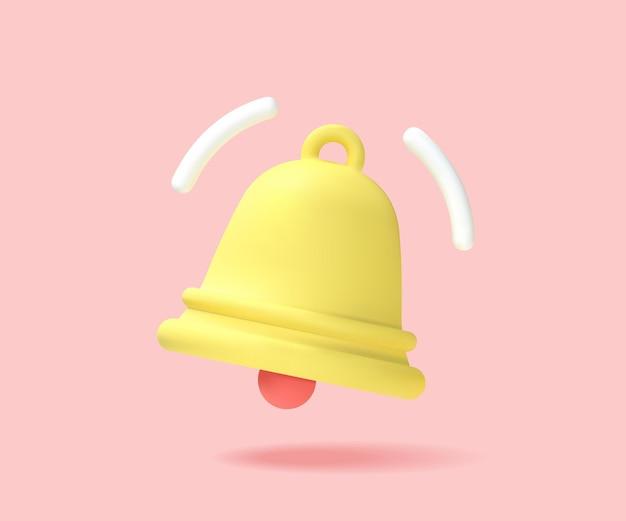 노란색 알림 벨, 알림이 도착했습니다. 하나의 새로운 알림 개념. 공고. 벡터 그래픽입니다.