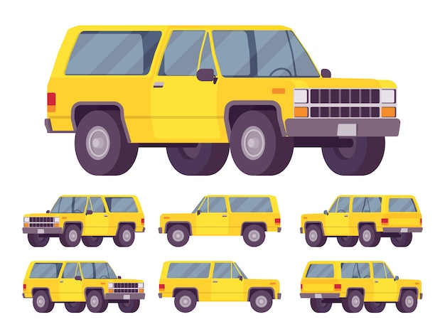 Yellow offroad set