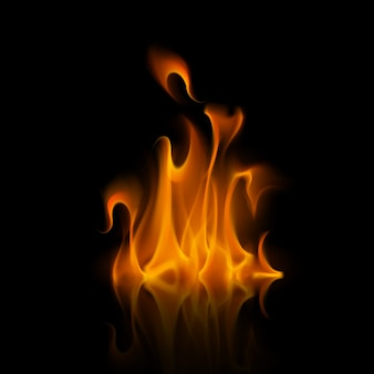 Желтый оранжевый огонь пламя костра на фоне