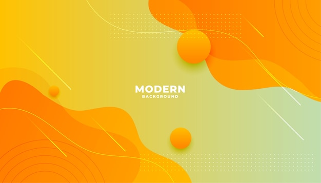 Yellow orange fluid gradient style modern background design