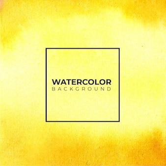 黄色オレンジゴールデン抽象的な水彩画はね背景、紙に手描き。