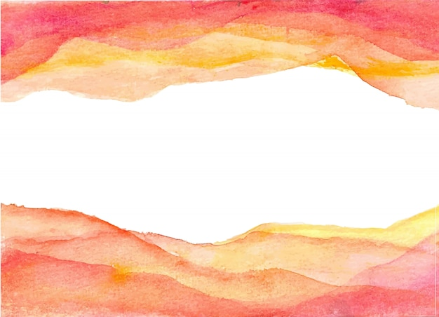 Yellow orange gradation watercolor background