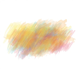Yellow and orange watercolor painted vector stain isolated