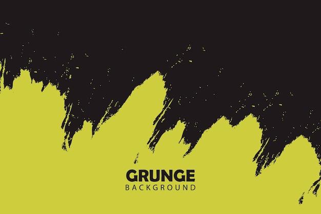 黄色の塗られたグランジ抽象的な背景
