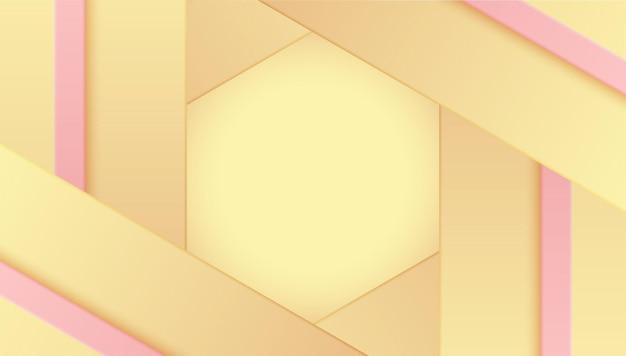 Желтый пастельный геометрический фон цветной векторный дизайн