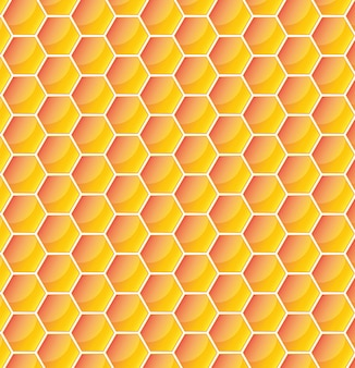 Yellow pattern with honeycomb.  illustration
