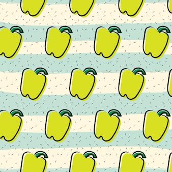 Yellow pepper paprika fruit pattern background