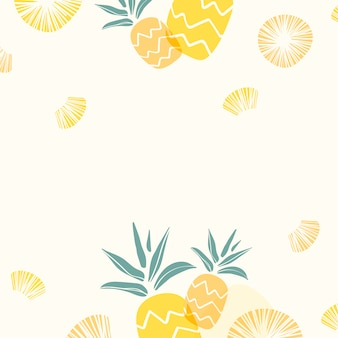 Yellow pineapple background