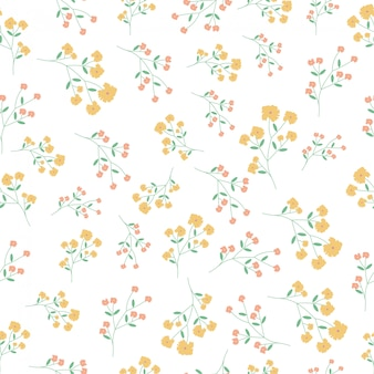 Yellow and pink flower background