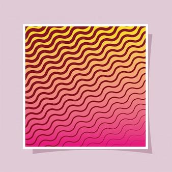 黄色ピンクグラデーションと縞模様の背景、カバーデザイン。