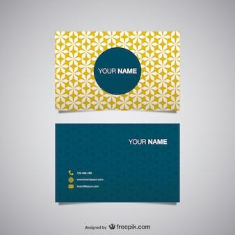 Yellow polygonal business card