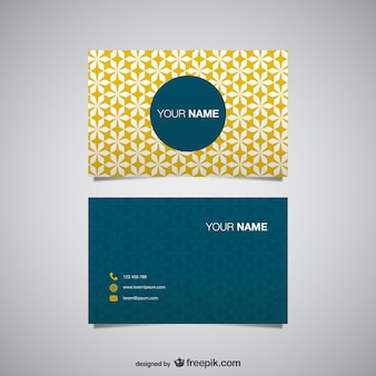 Yellow polygonal business card